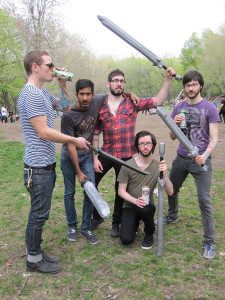 Hipsters: seen here LARPing ironically.