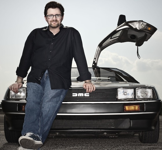 Ernest_Cline_DeLorean